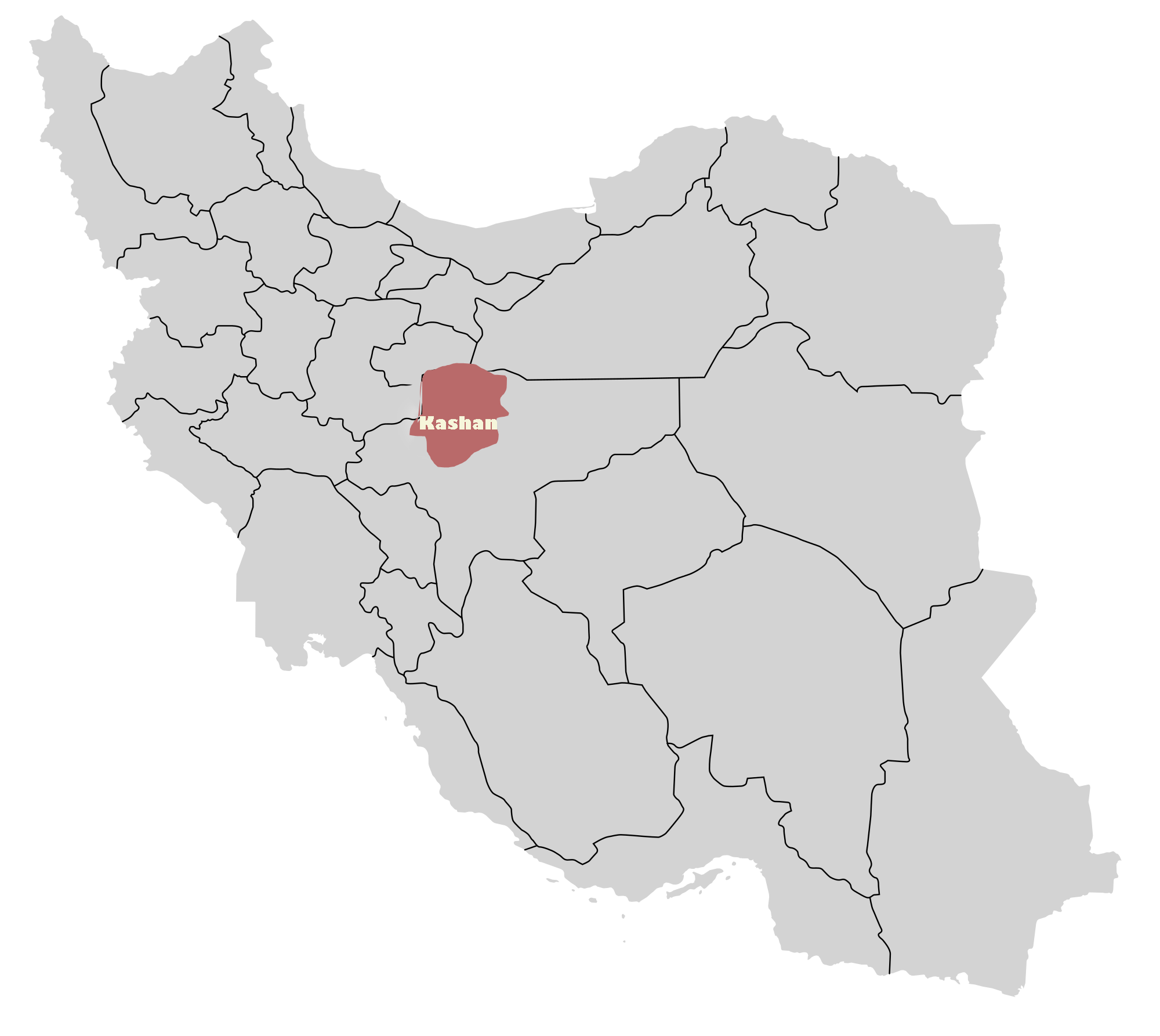 Kashan City Map