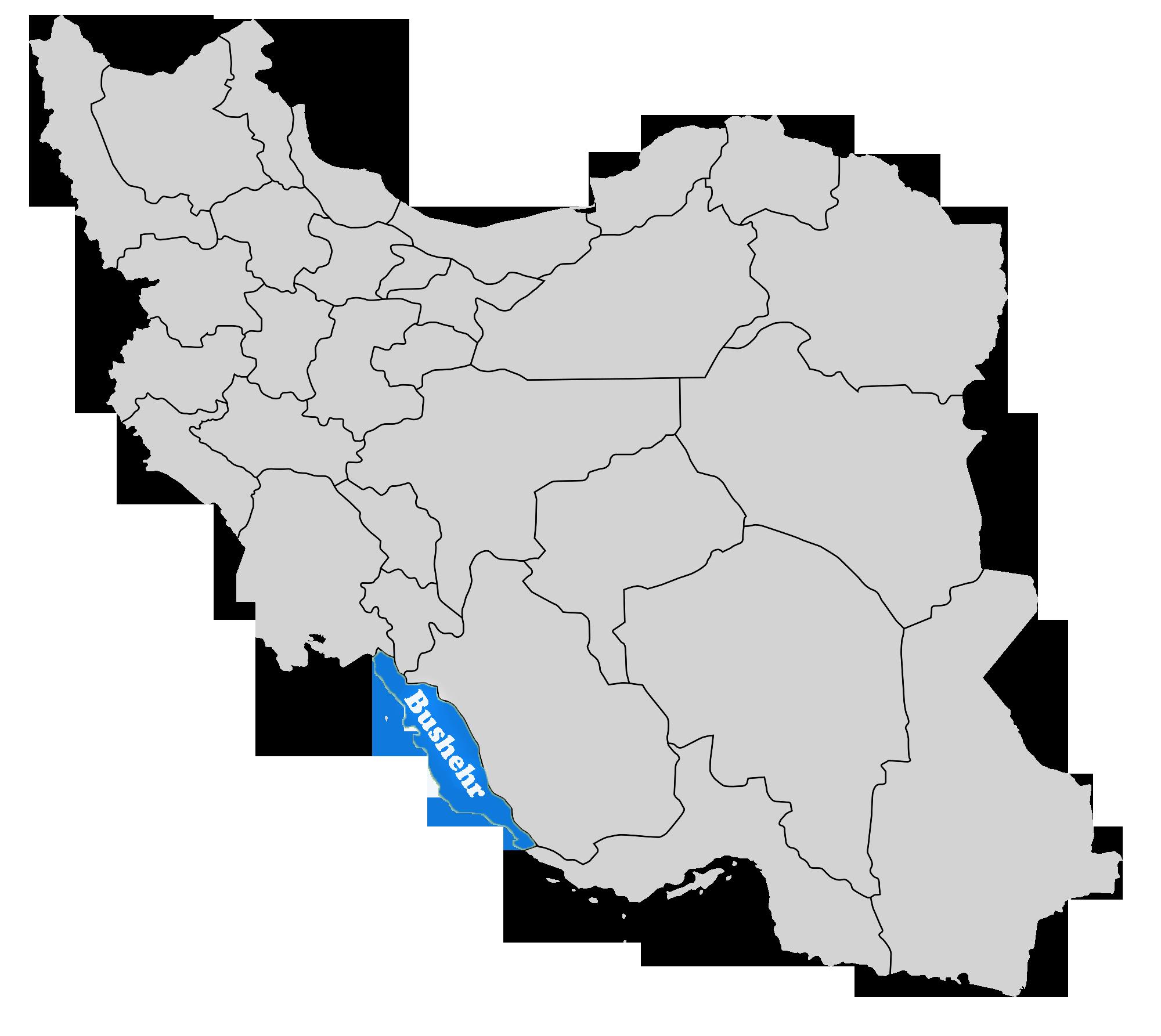 Bushehr on Map