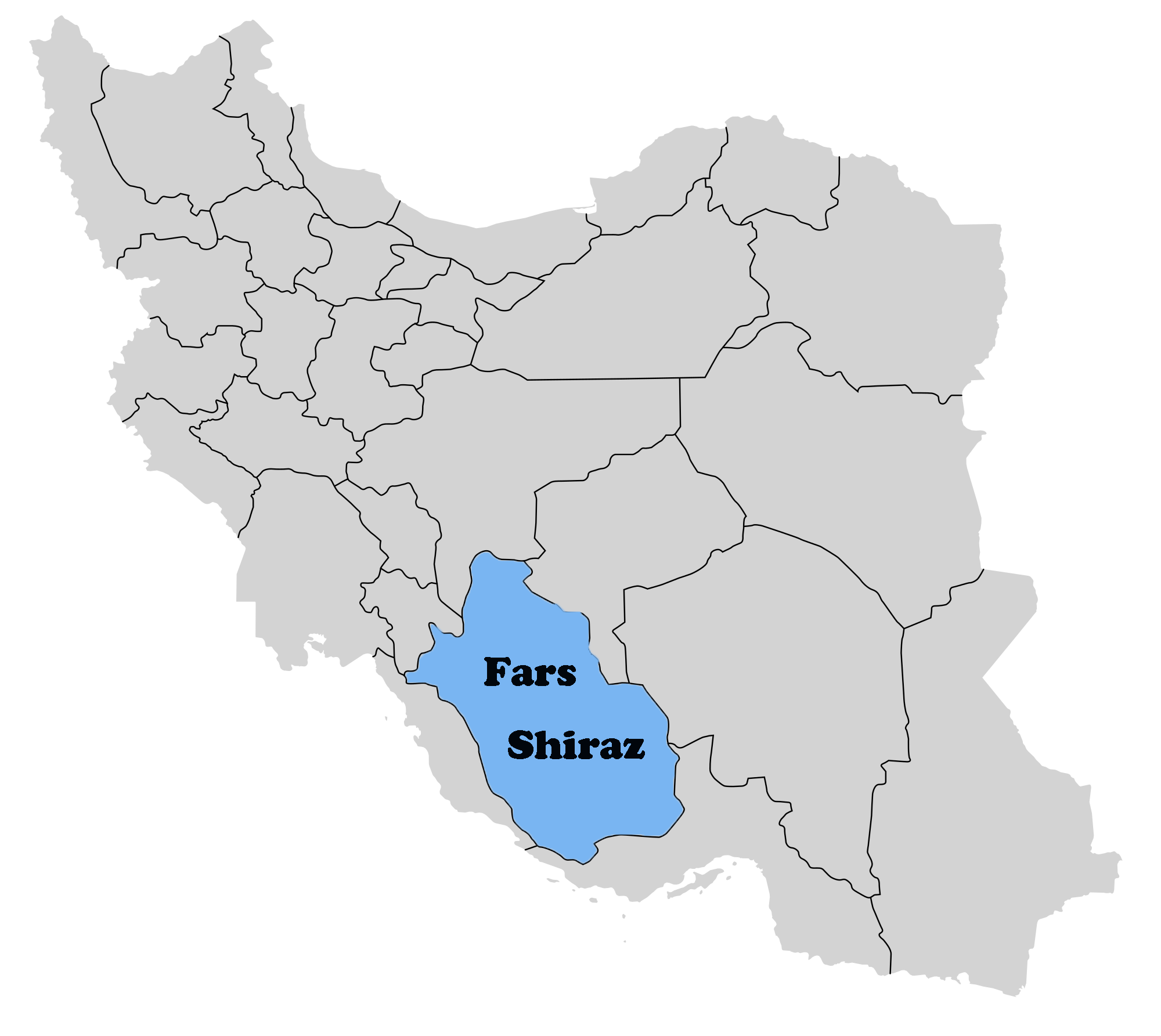 Shiraz On Map