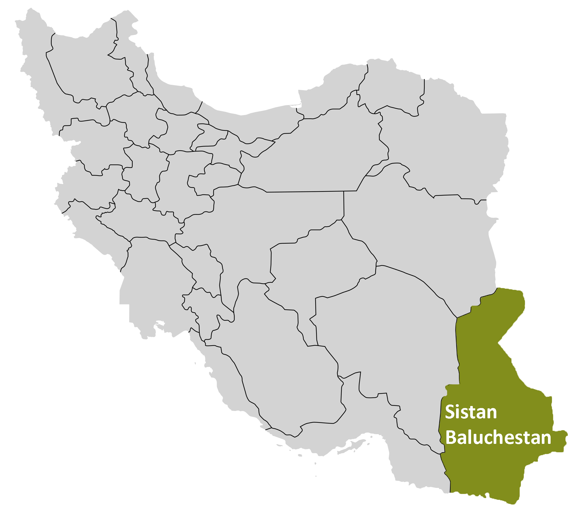 Sistan and Baluchestan Map