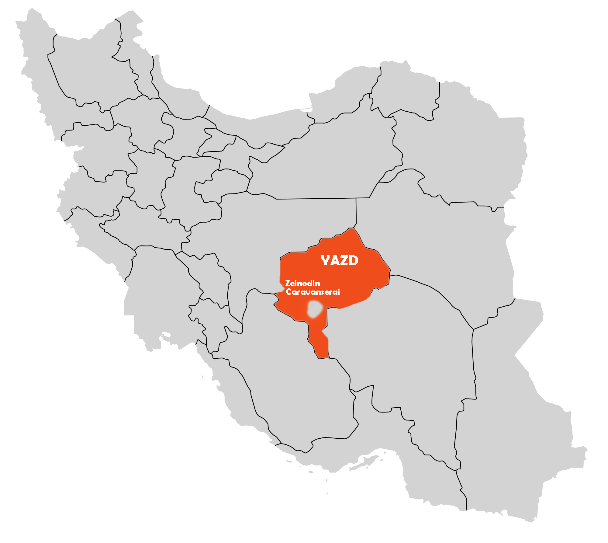 Zeinodin Caravanserai On Map
