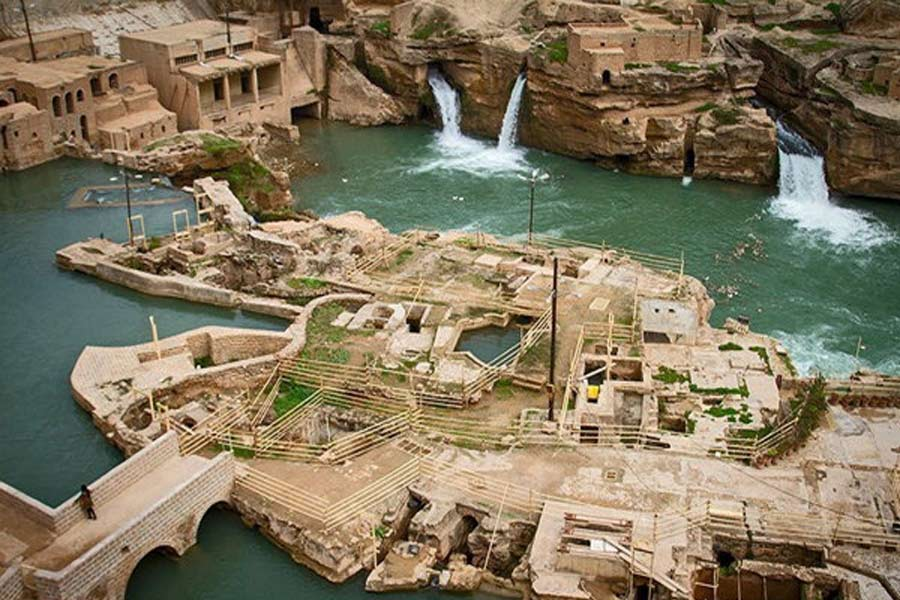 Shushtar Waterfalls and Historical Bridges