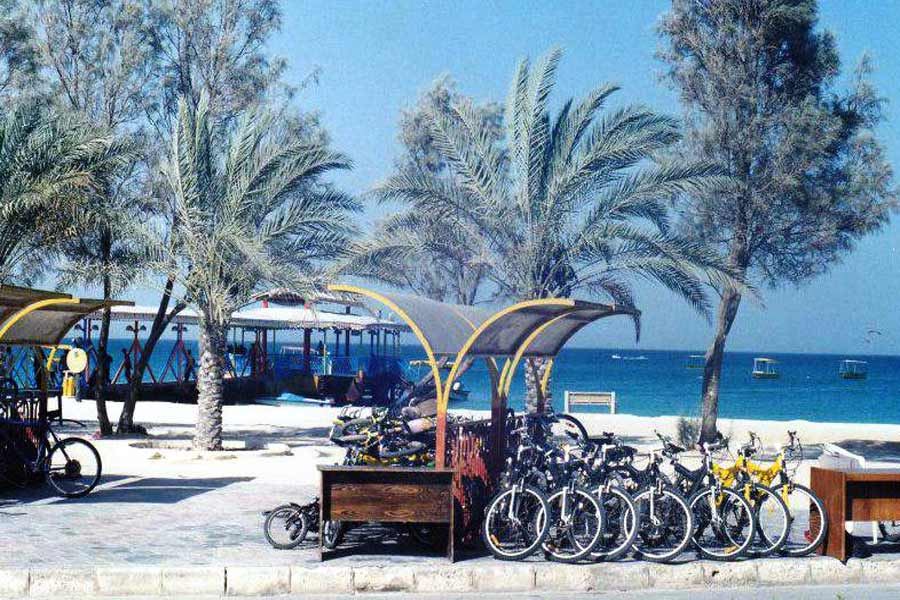 Biking in Kish Island