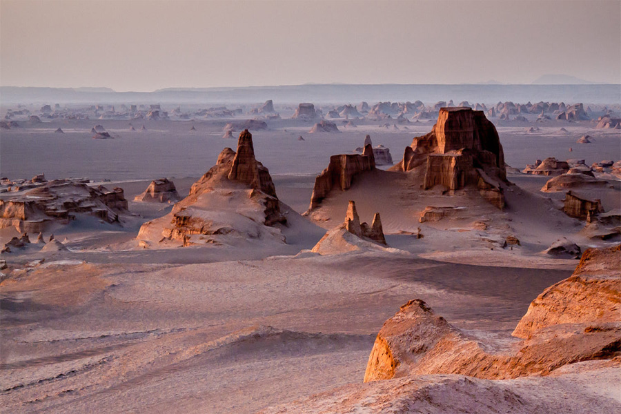 Desert Yardangs , Kerman Iran