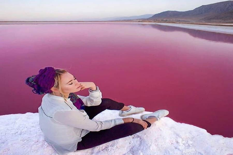 Pink Lake , Shiraz Iran